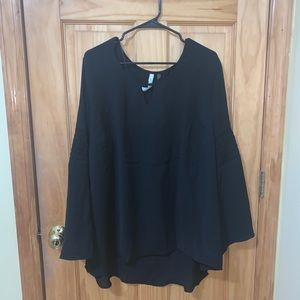 Plus size bell sleeve blouse
